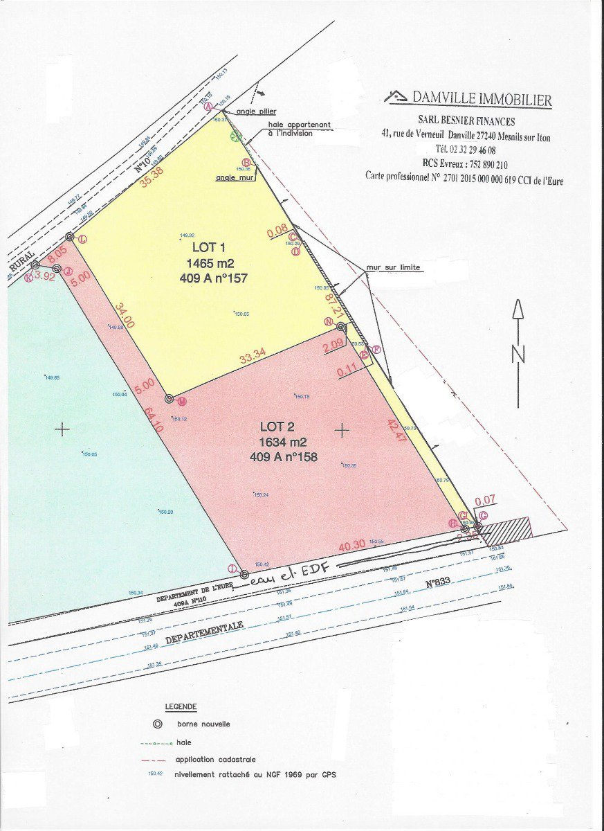 Sale Plot of land - Damville