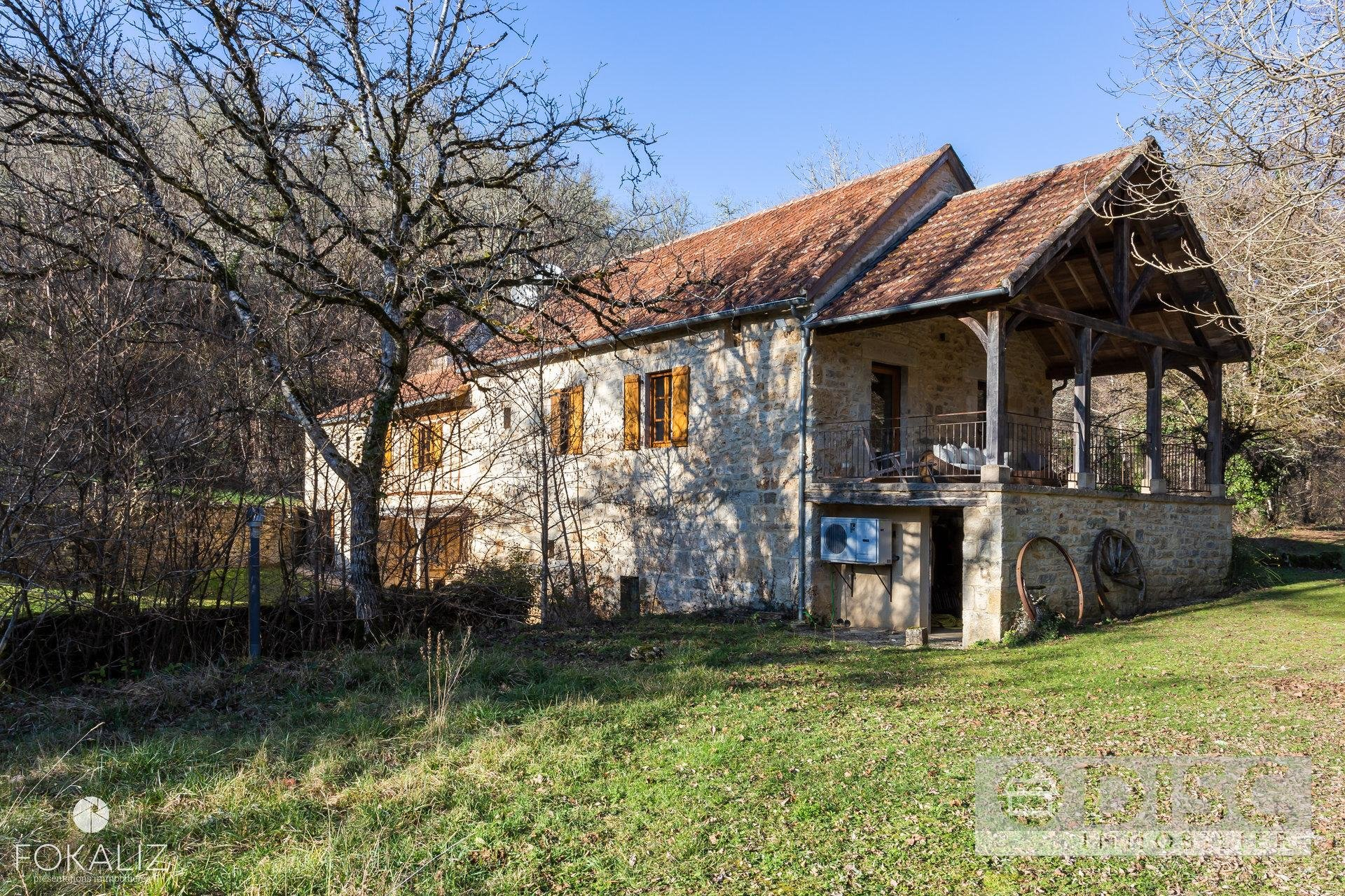 Magical stone mill house set in 14 acres