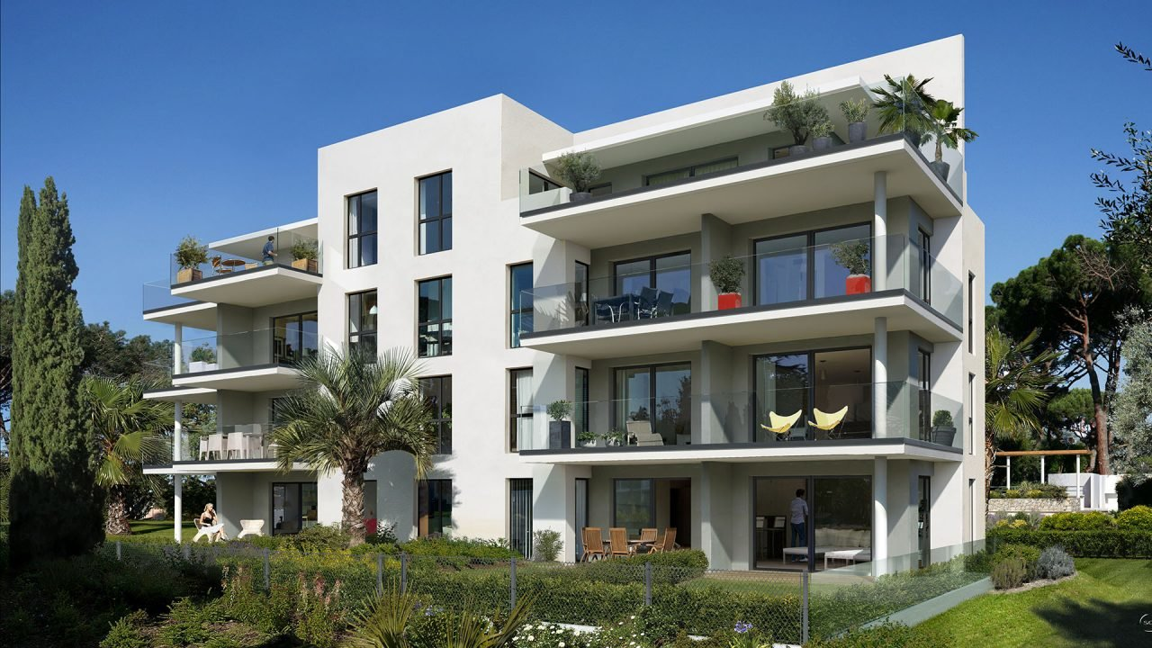 Antibes - New program -- Luxury building with pool. 2 bedrooms garden apartment