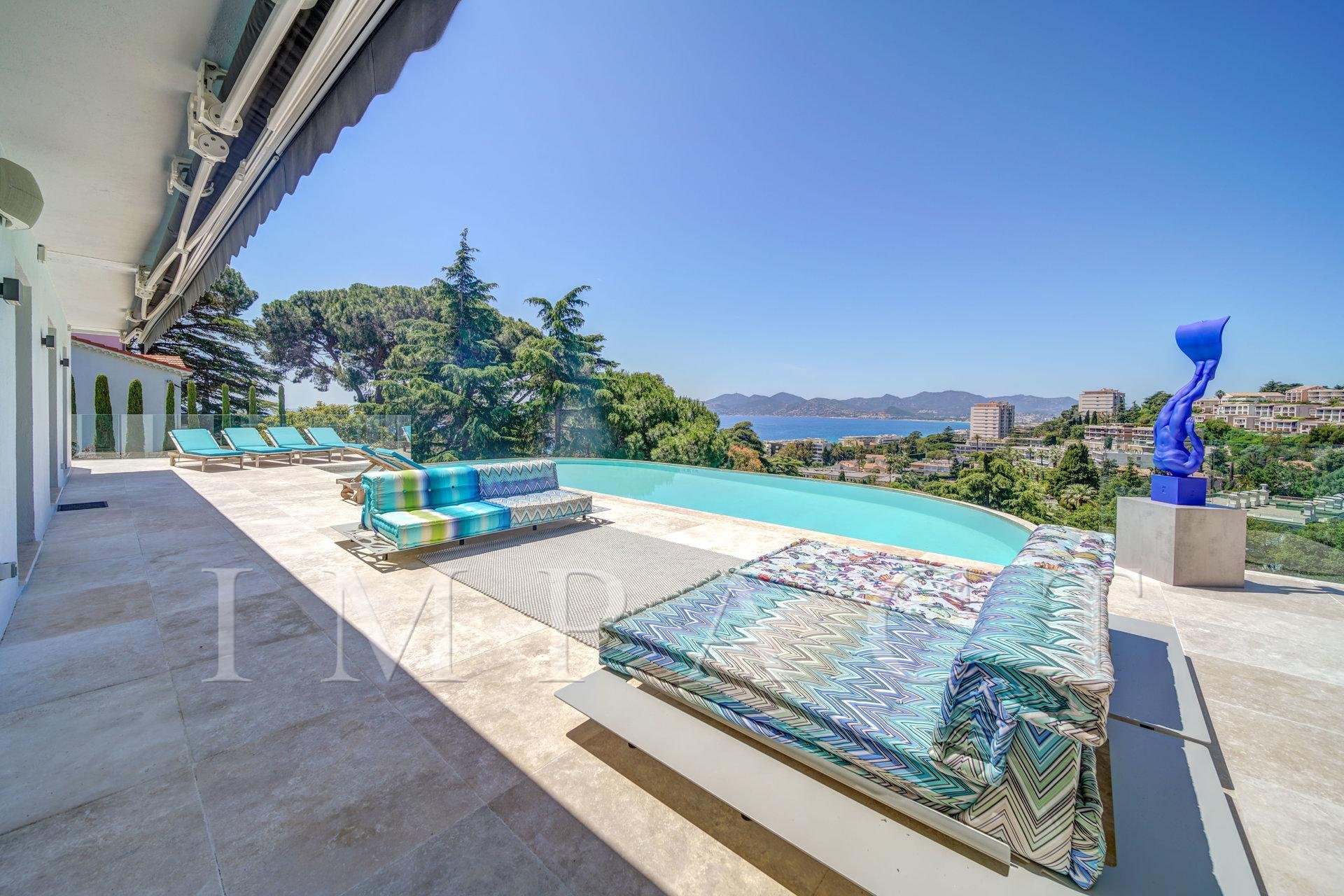 Villa vue mer panoramique à louer, proche Centre Cannes