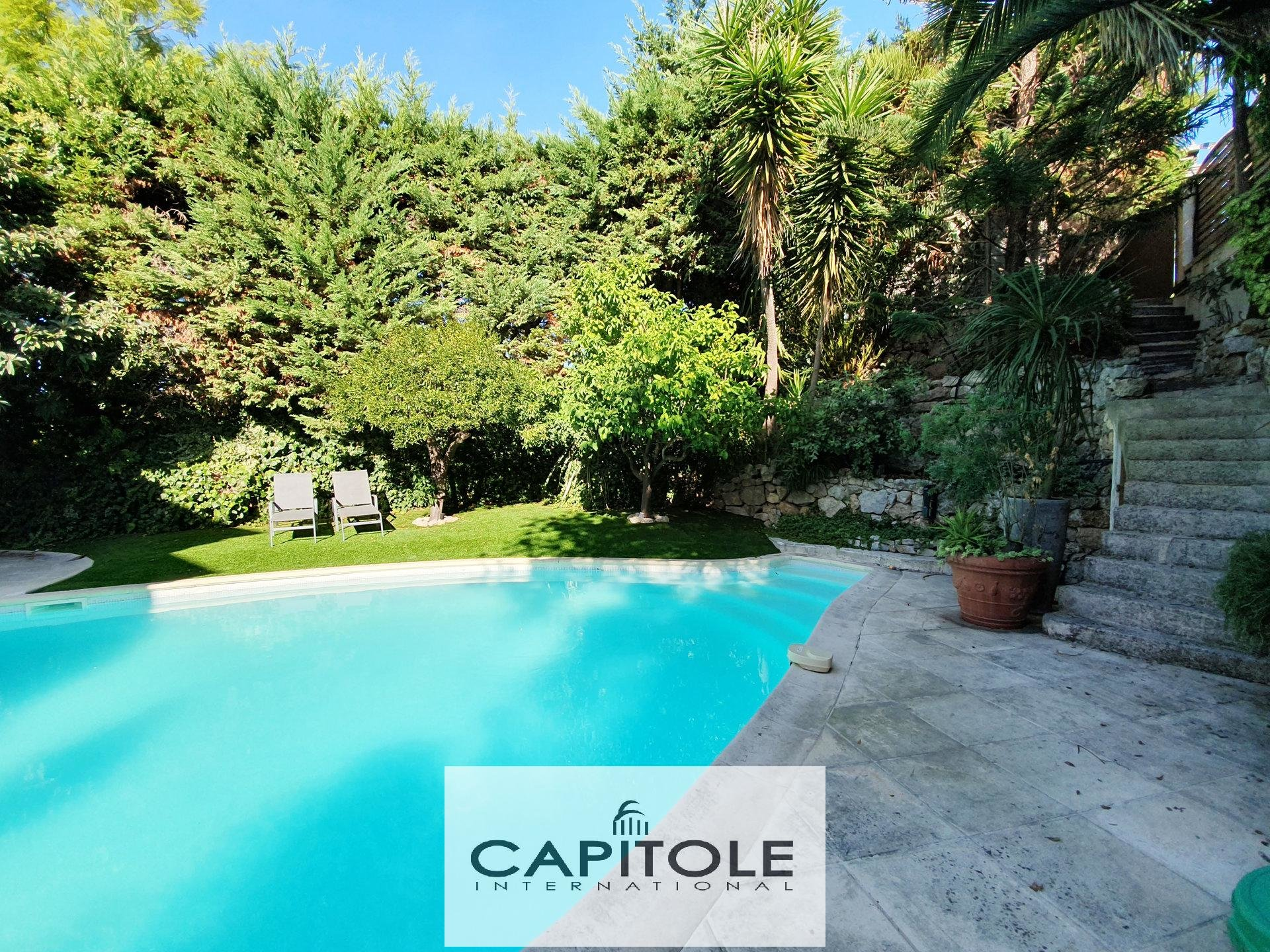 For sale, Cap D'Antibes,  5 bedroom villa, swimming pool, garage