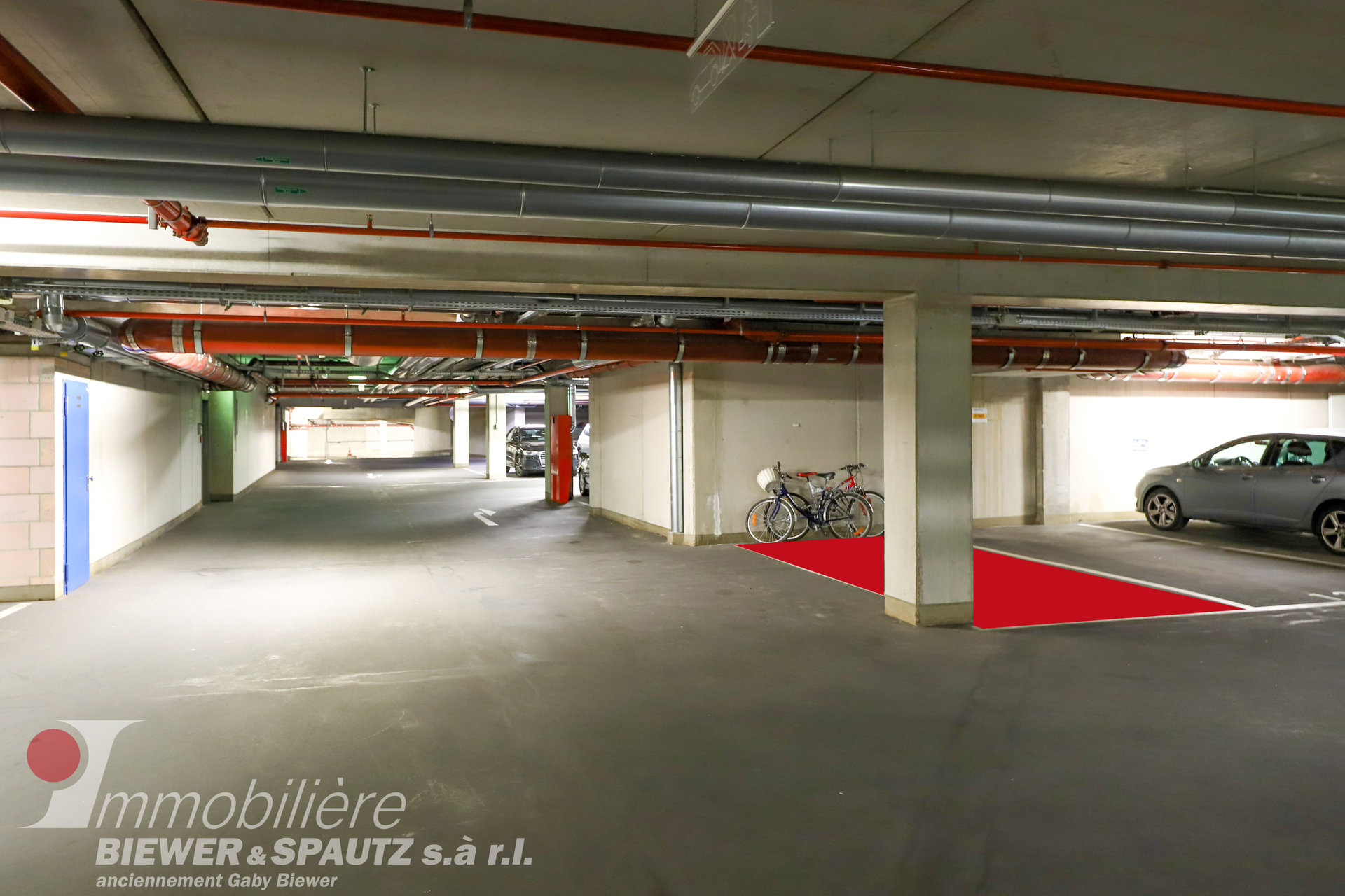 FOR SALE - interior parking spot for 1 car in Diekirch