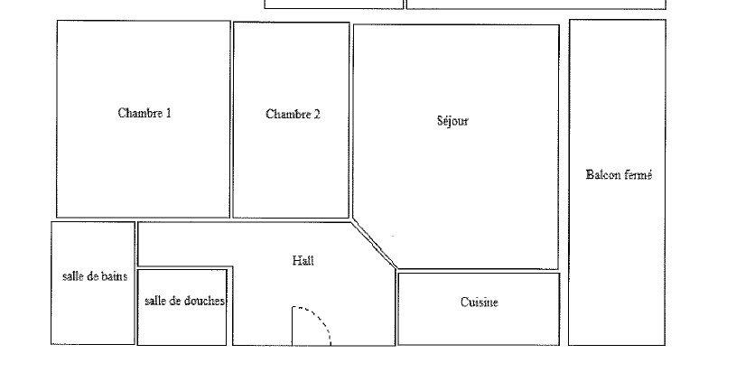 3P 2ème BLOC D terrasse garage ET cave