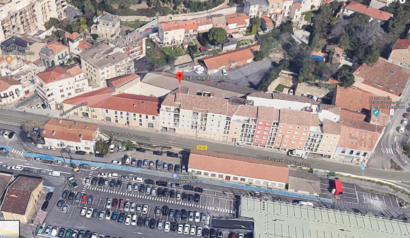 Exclusivité - studio de 33m² face à la Gare avec place de parking - BEZIERS