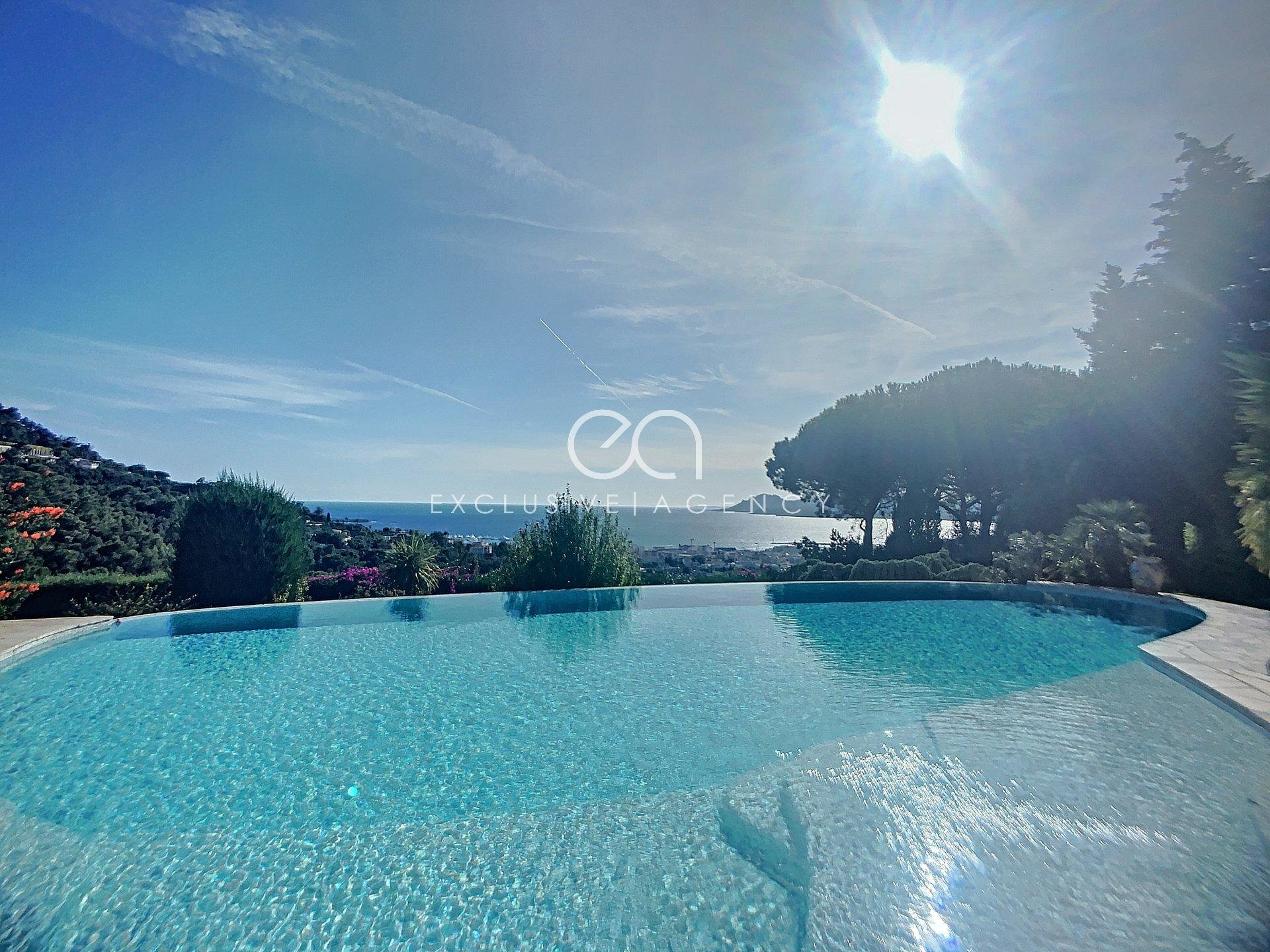 CANNES CALIFORNIE MODERN VILLA WITH PANORAMIC SEA VIEW.