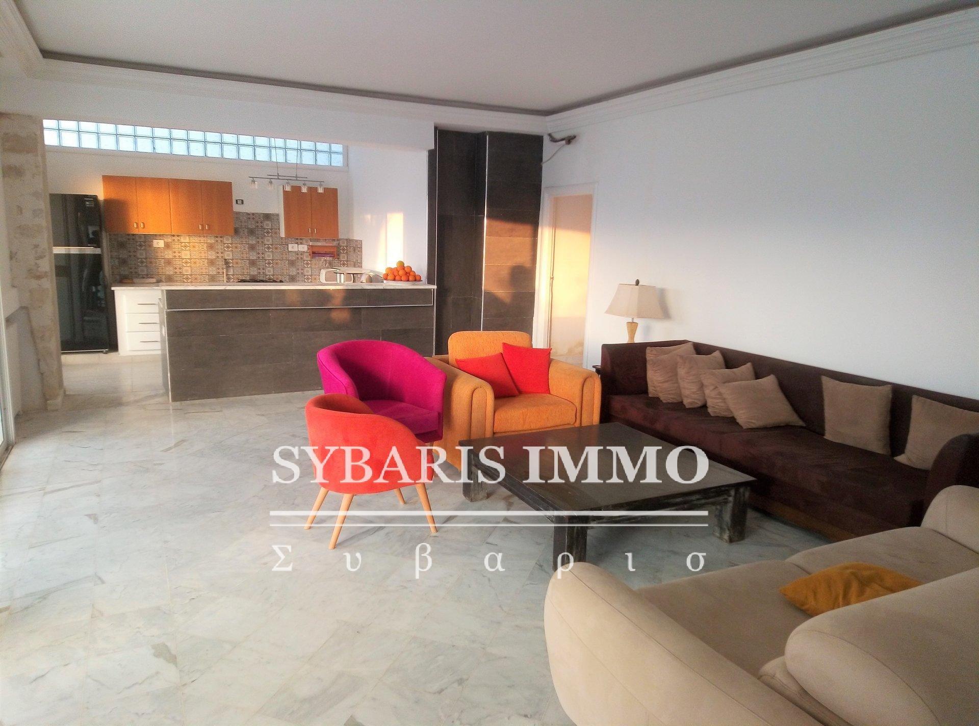 location rez-de-chaussée meublé avec jardin a carthage - Tunis