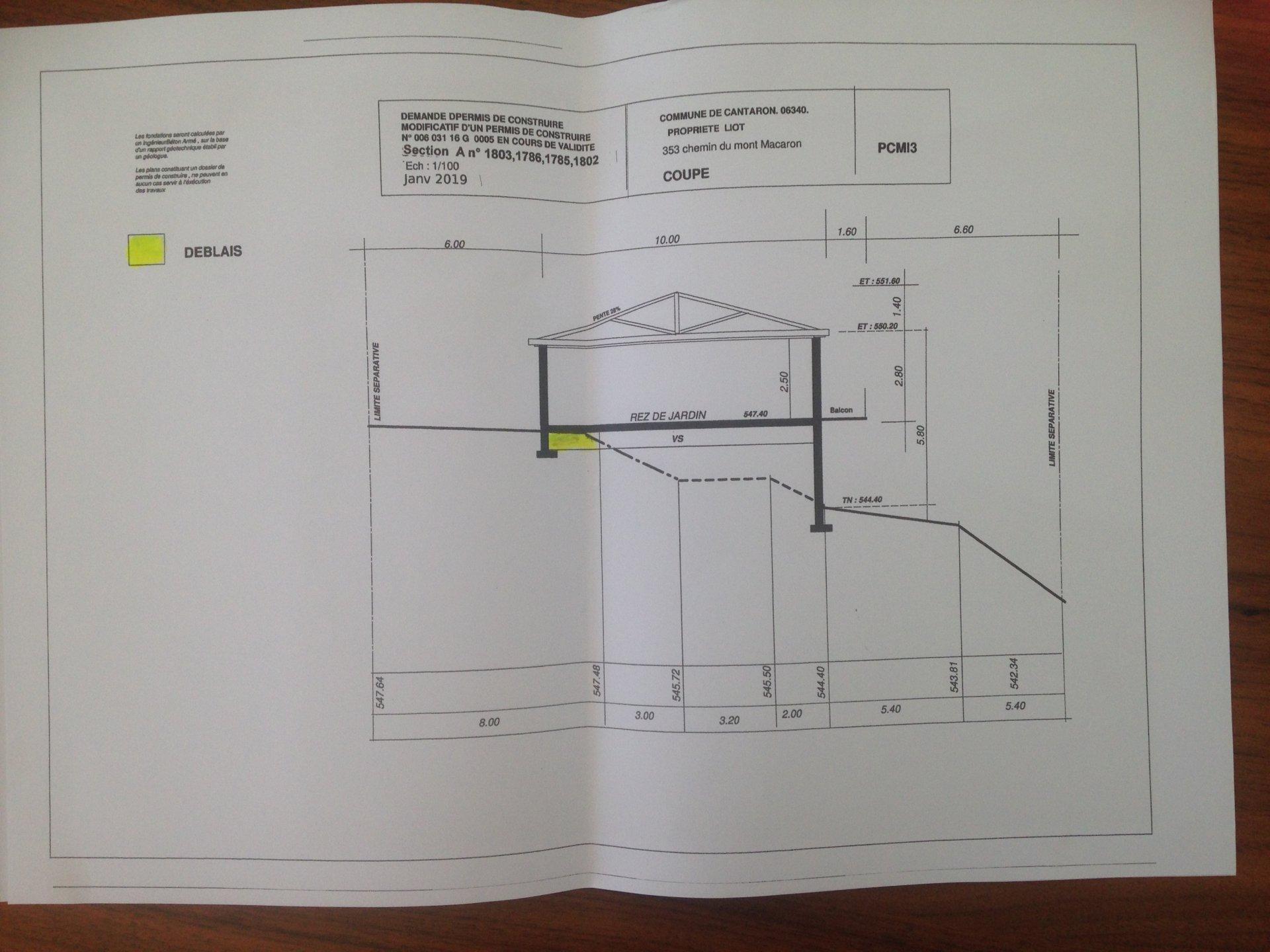 06 - L'ABADIE - TERRAIN CONSTRUCTIBLE 1500 M2