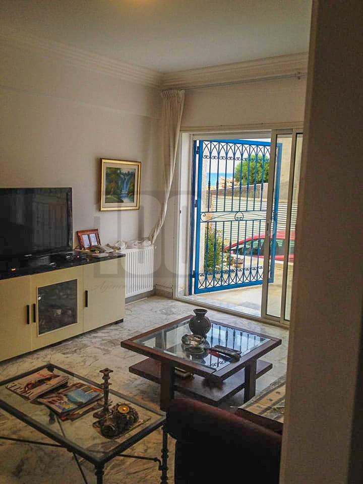 Location  appartement S+3  meublé vue mer à Gammarth