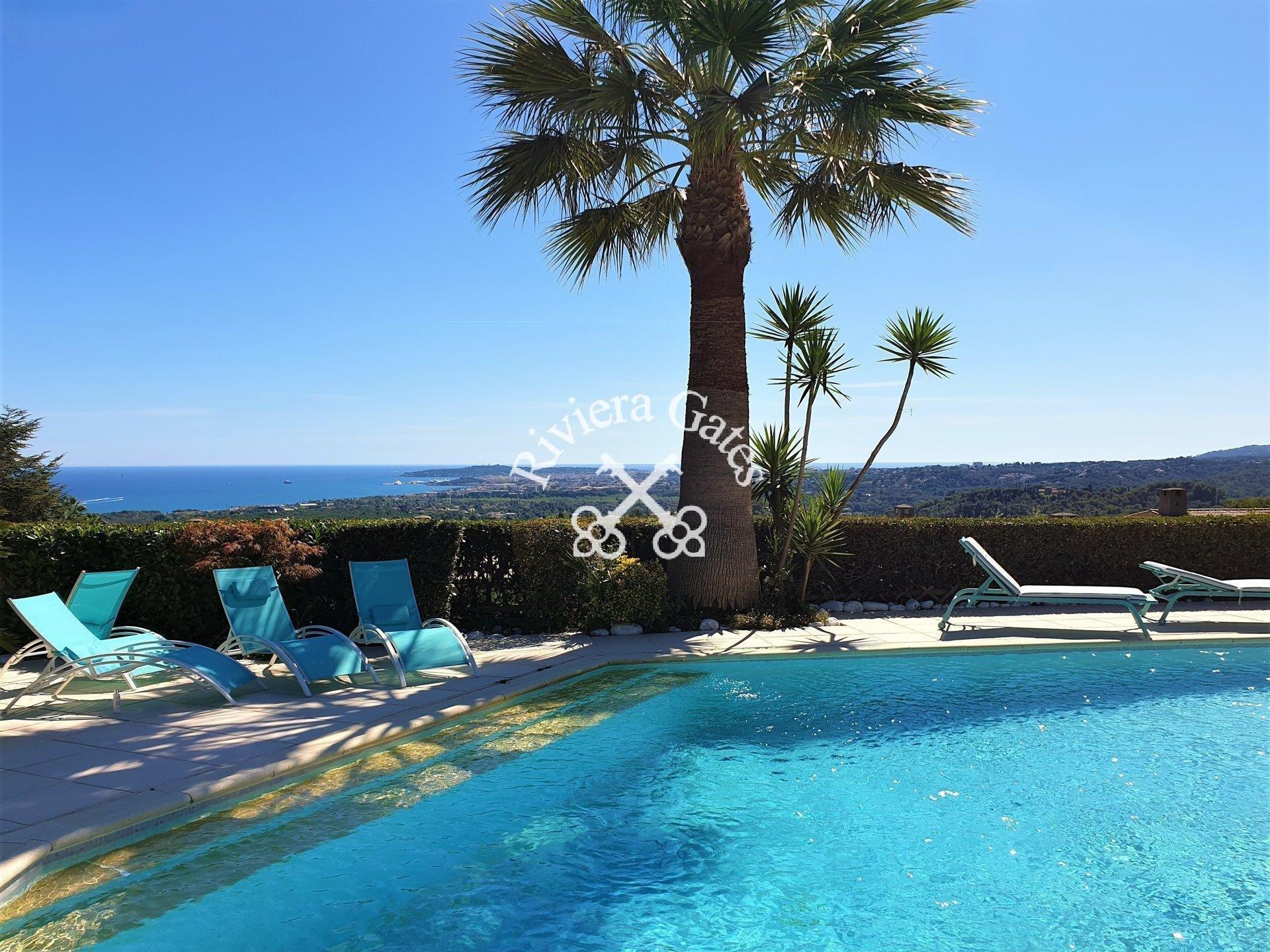 A louer - Luxueuse villa piscine vue mer - Les Hauts de Vaugrenier