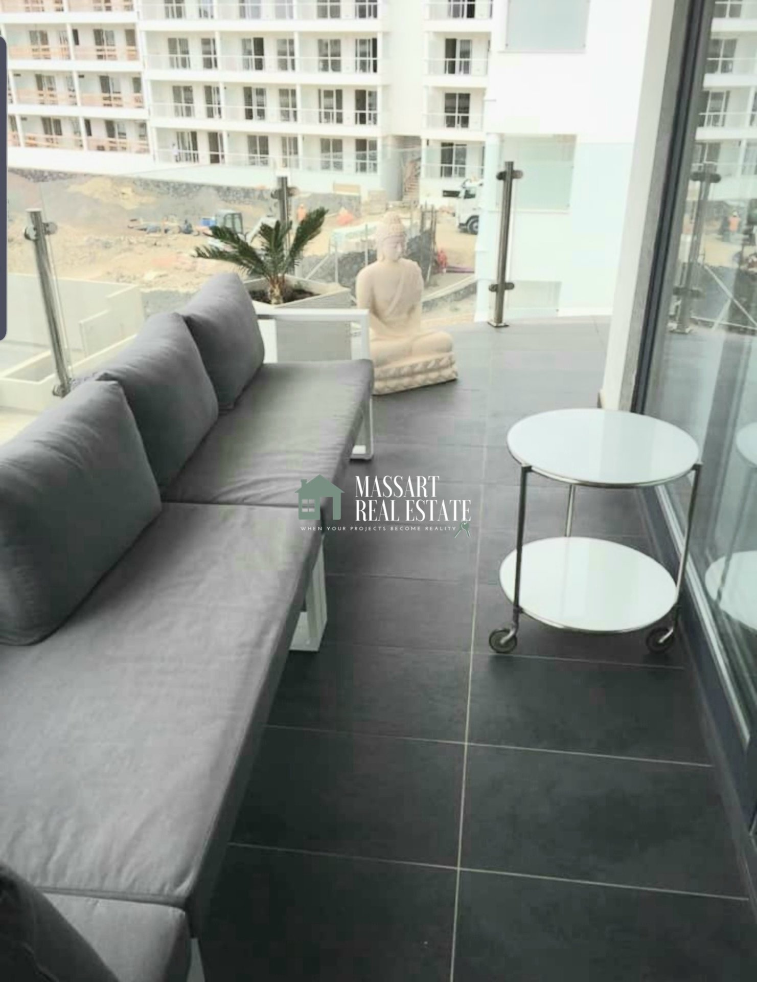 """For rent in Palm-Mar, modern apartment located in the complex """"Las Olas""""."""