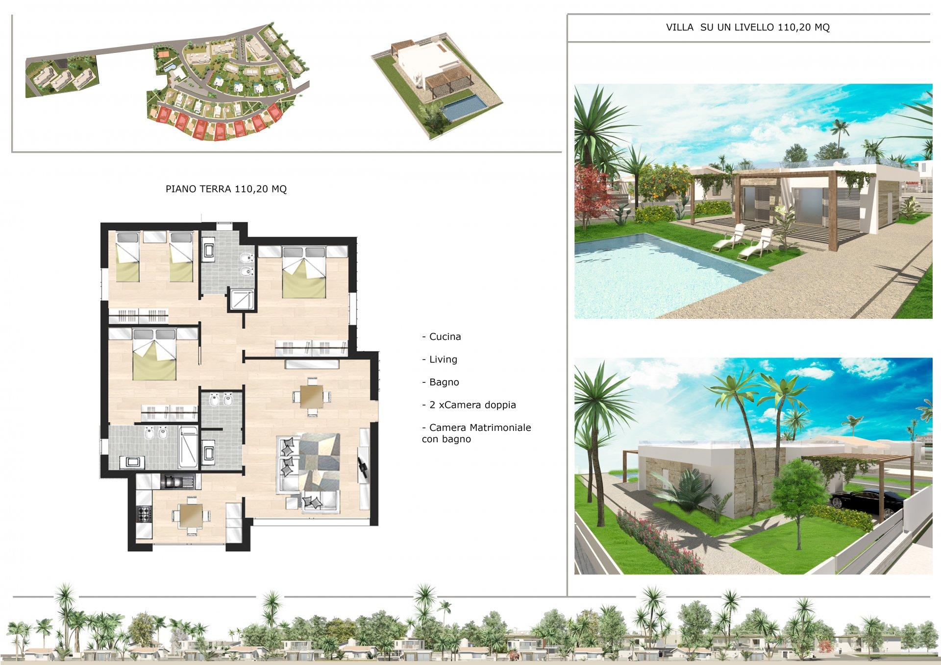Mid construction villa with sea views
