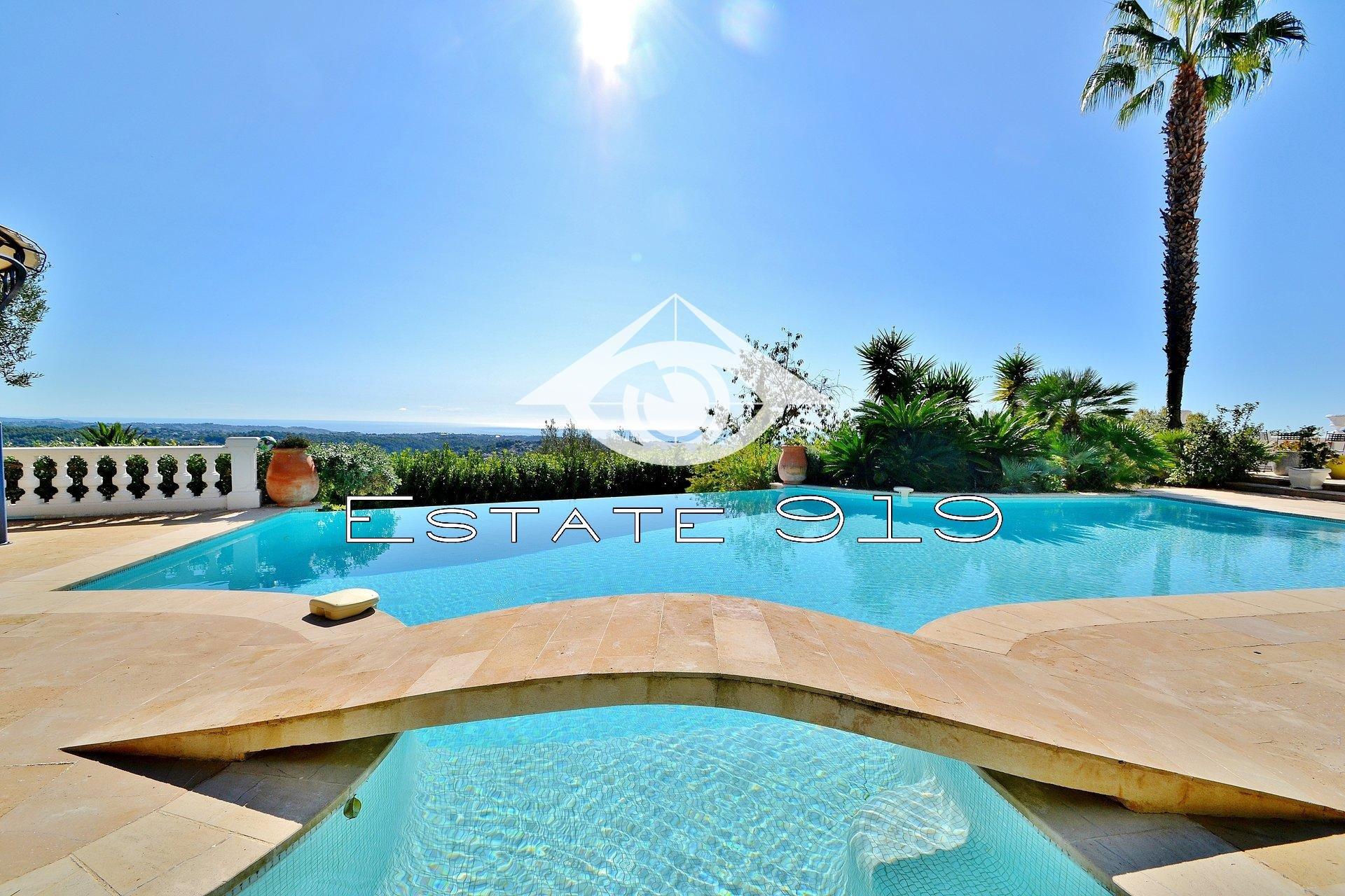 Vence  Maison en pierres Vue mer panoramique