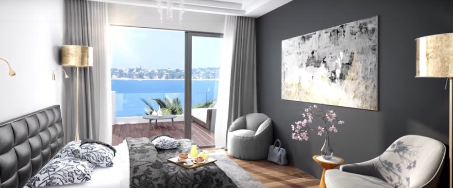 Cannes Eden, 3 bedrooms apartment of 173sqm with 51sqm terrace sea view