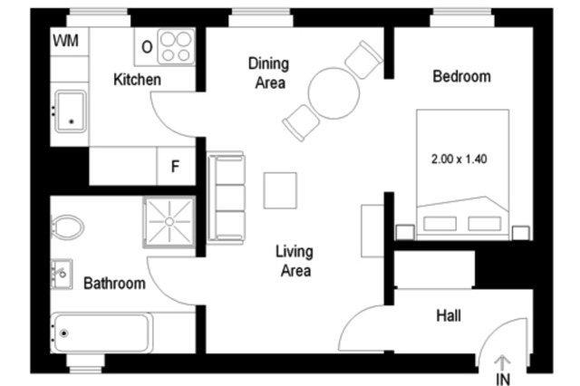 FÖRSÄLJNING Lägenhet 2 Rum Gamla Stan Place Rossetti Högst Upp