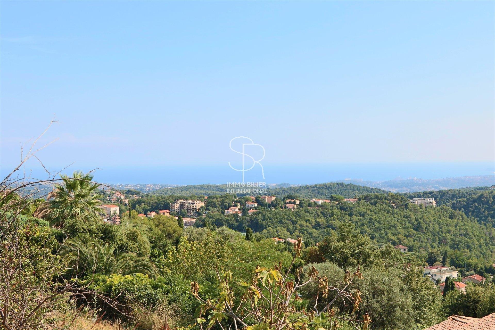 Vence - L'Ormée - Terrain vue mer panoramique