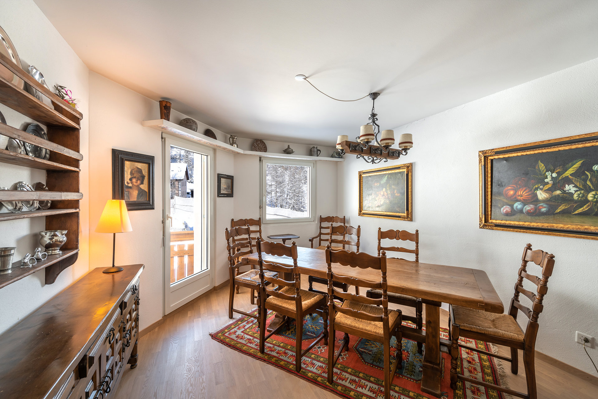 Big apartament for sale in Sankt Moritz, Switzerland- dining room