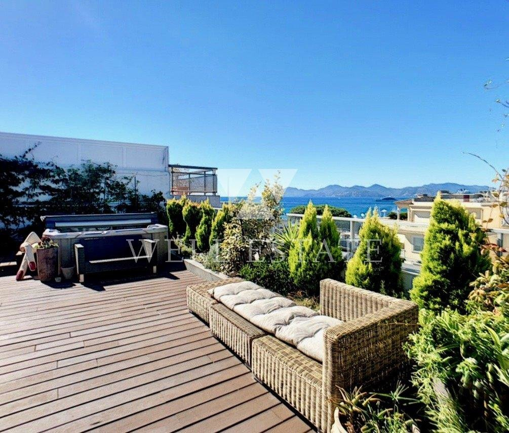 CANNES PALM BEACH CROISETTE 162M2 PENTHOUSE 4 BEDROOMS SEA VIEW 360°