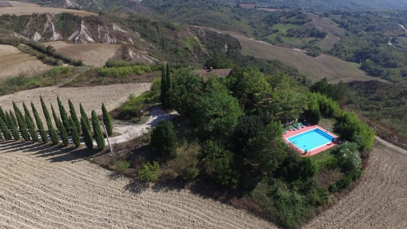 HILLTOP: Ancient partially restored monastery with swimming pool on Umbrian Hilltop