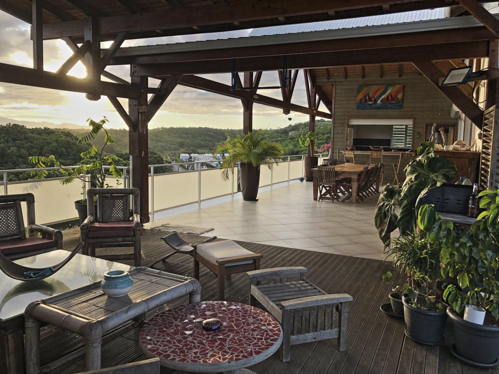 Villa Sainte-Anne terrasse vue mer