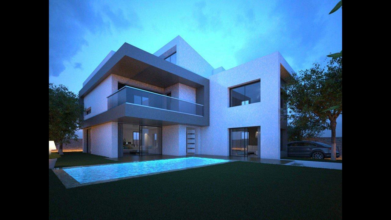 A vendre une Villa inachevée de 440m2 à Gammarth Supérieur