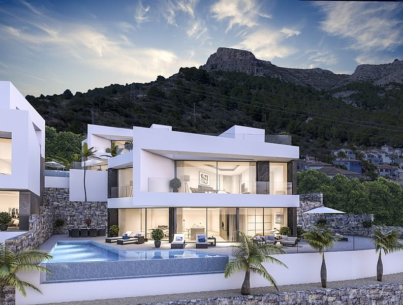 New modern houses with fantastic panoramic views