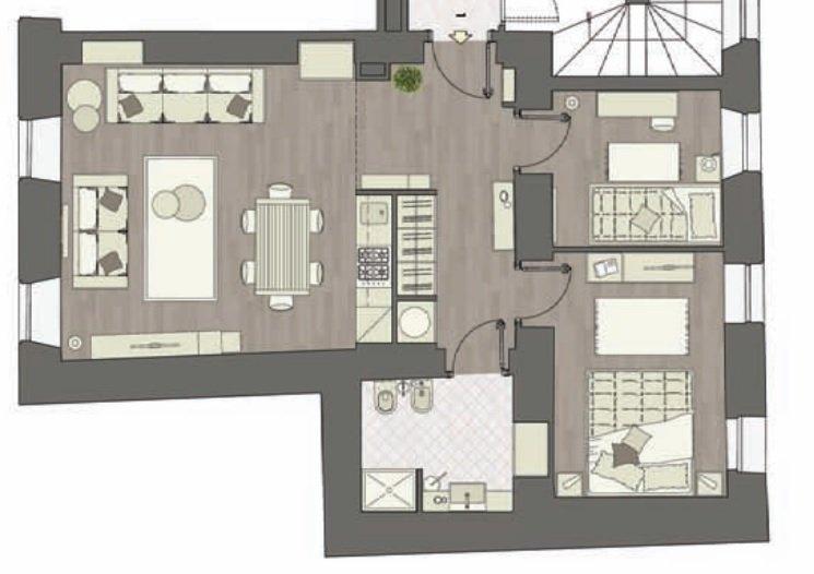 Menton Centre appartement 3 pièces refait neuf