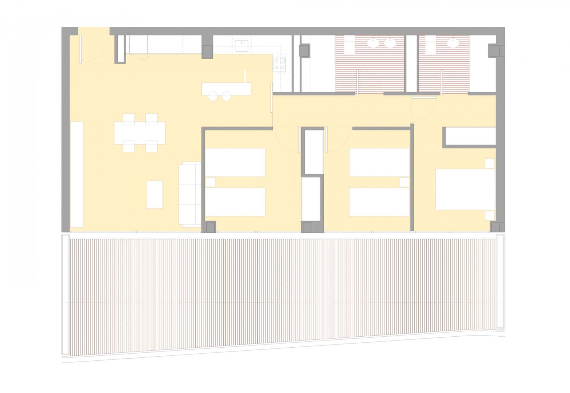 Penthouse met 3 slaapkamers in nieuw complex