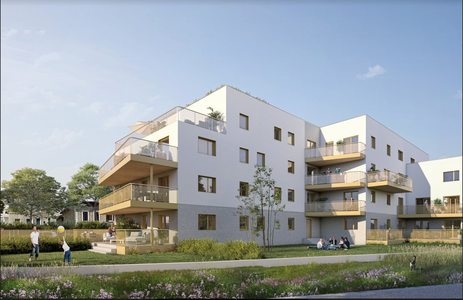 T1 avec grand balcon