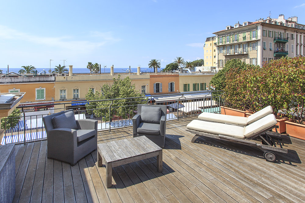 SALE Apartment 3 Rooms Vieux Nice Cours Saleya 65M2 Terrace Sea View!