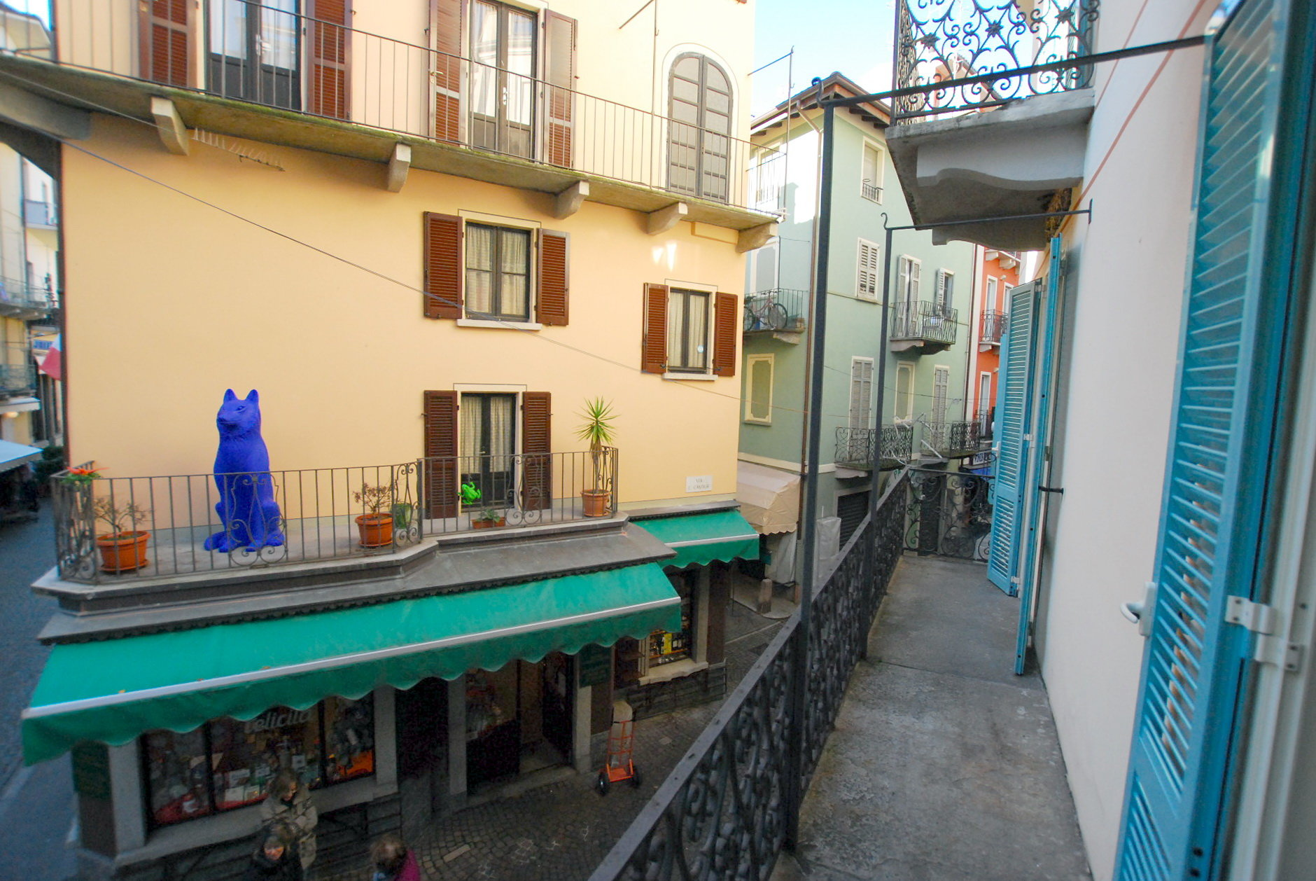 Rent apartment in the centre of Stresa-terrace