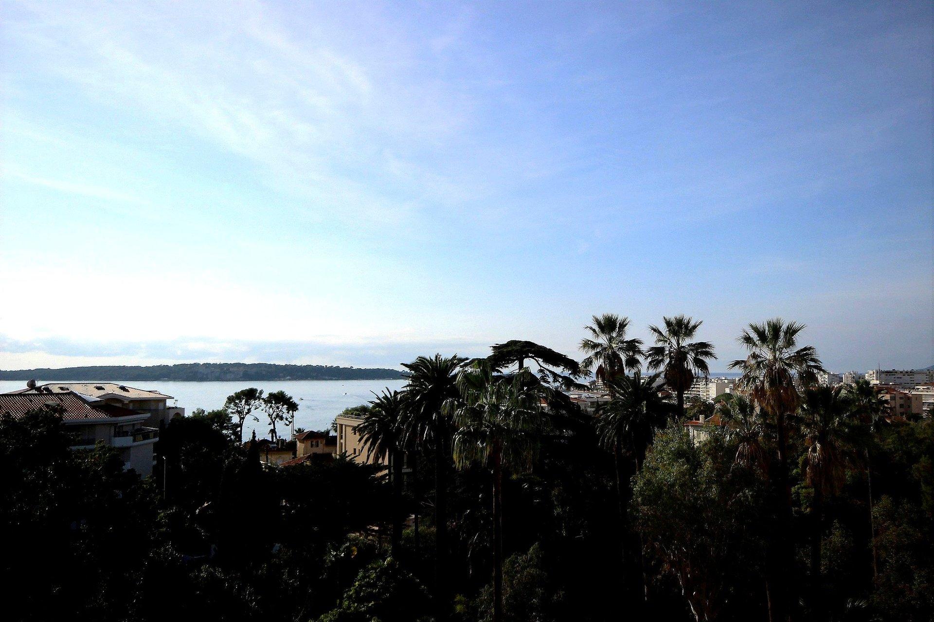 Vackert renoverad lägenhet med havsutsikt i Cannes Basse Californie