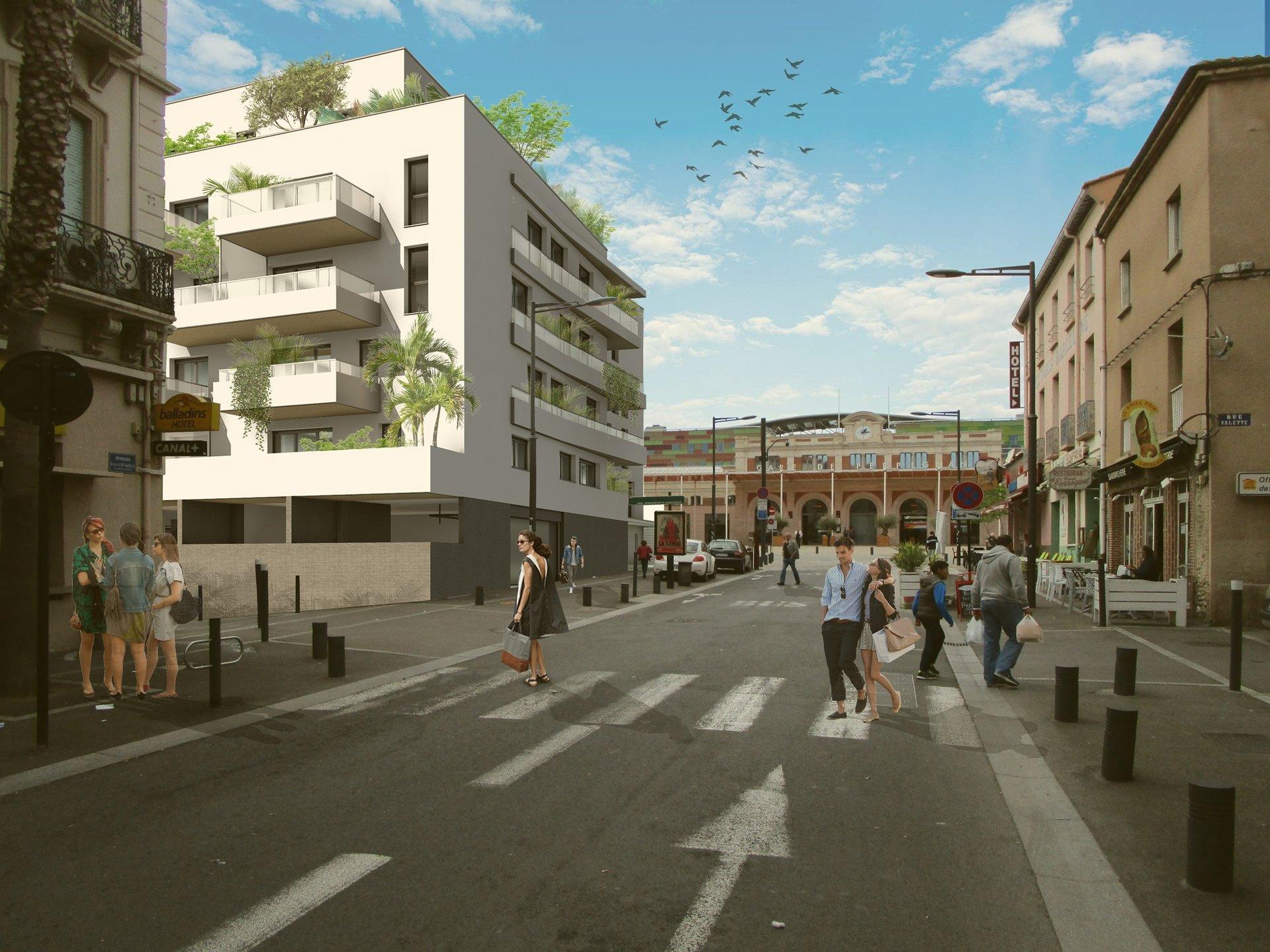 Perpignan, appartement en VEFA, T3 avec loggia et parking