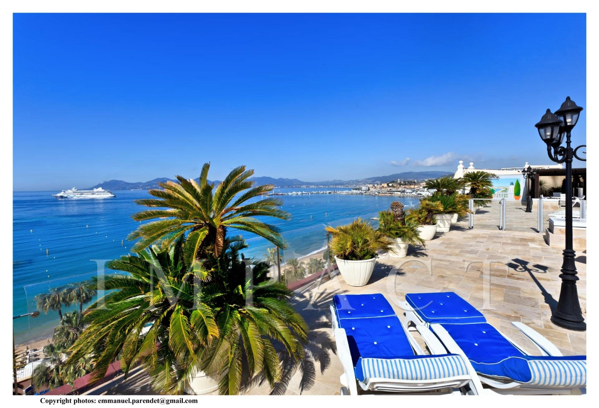 Unic Penthouse to rent on the Croisette