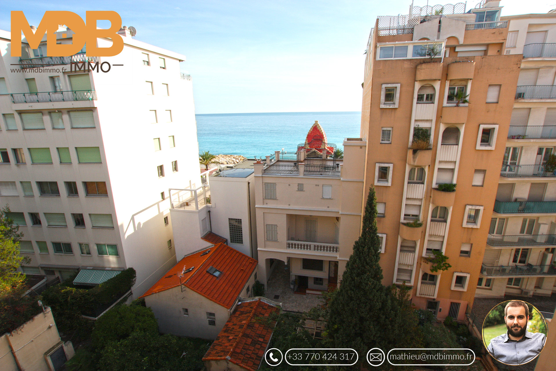 Nice - Promenade des anglais - 3P - Terrace - Sea view - South exposure - High floor