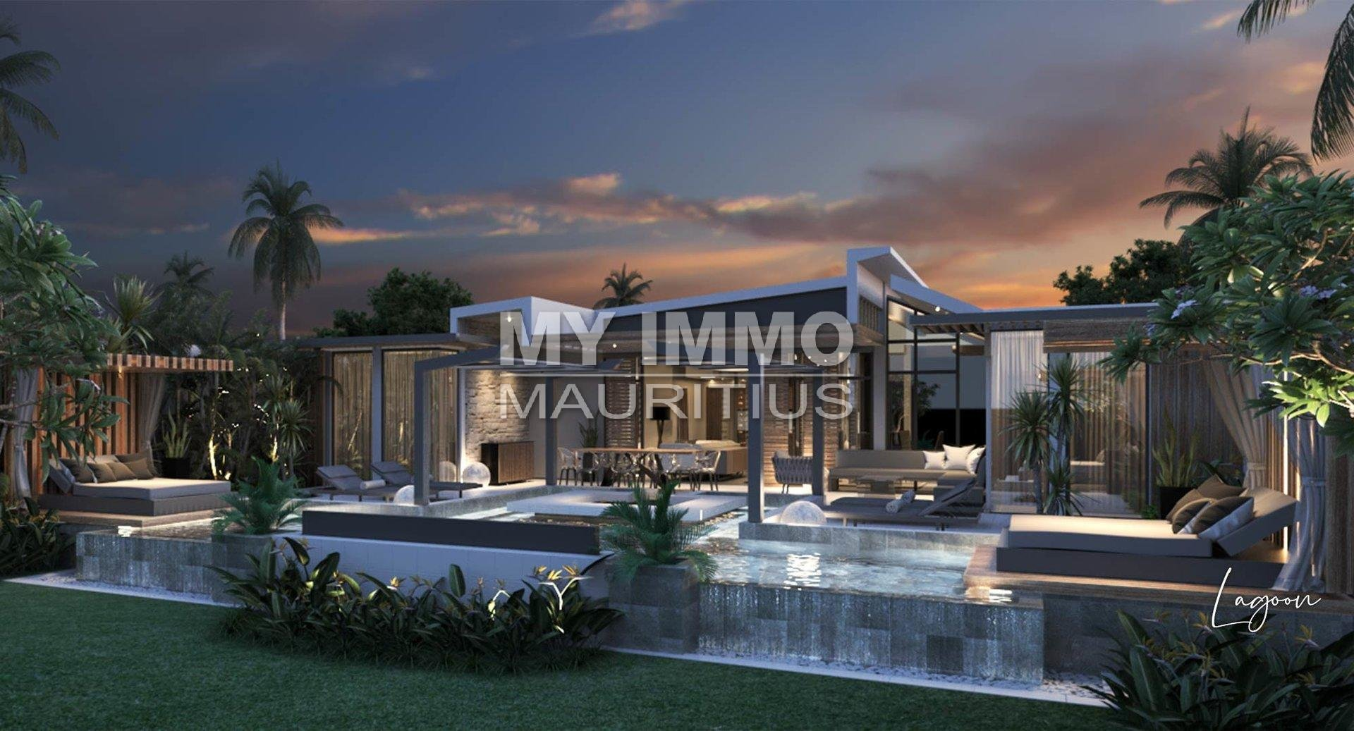 Villa neuve 3 chambres Cap Malheureux