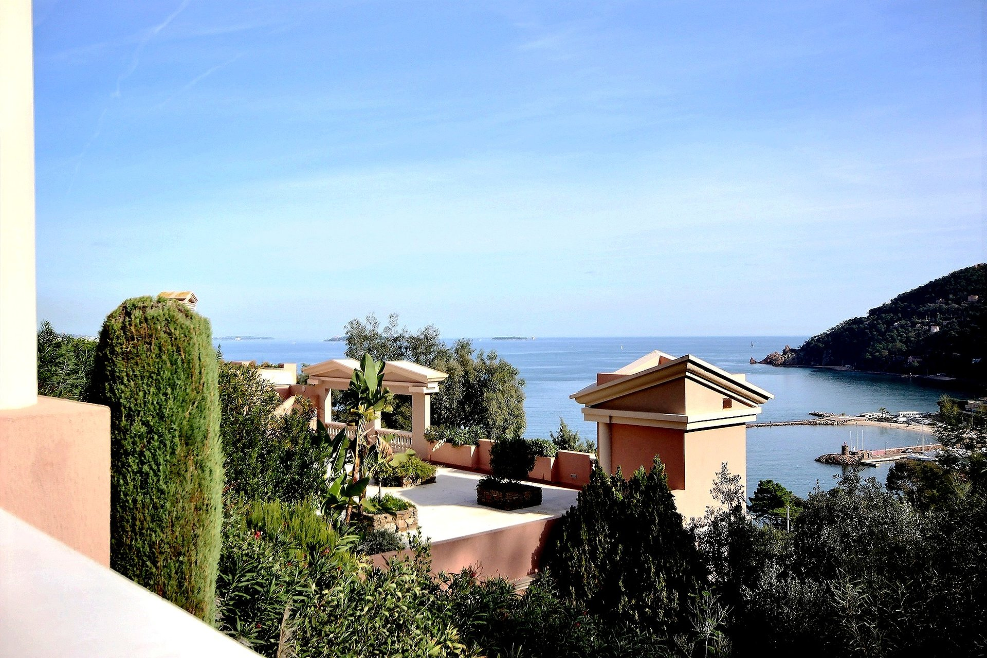 Panoramic sea view in Theoule sur Mer on the French Riviera