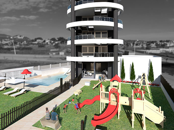 Appartements nouvellement construits à 250m de la plage