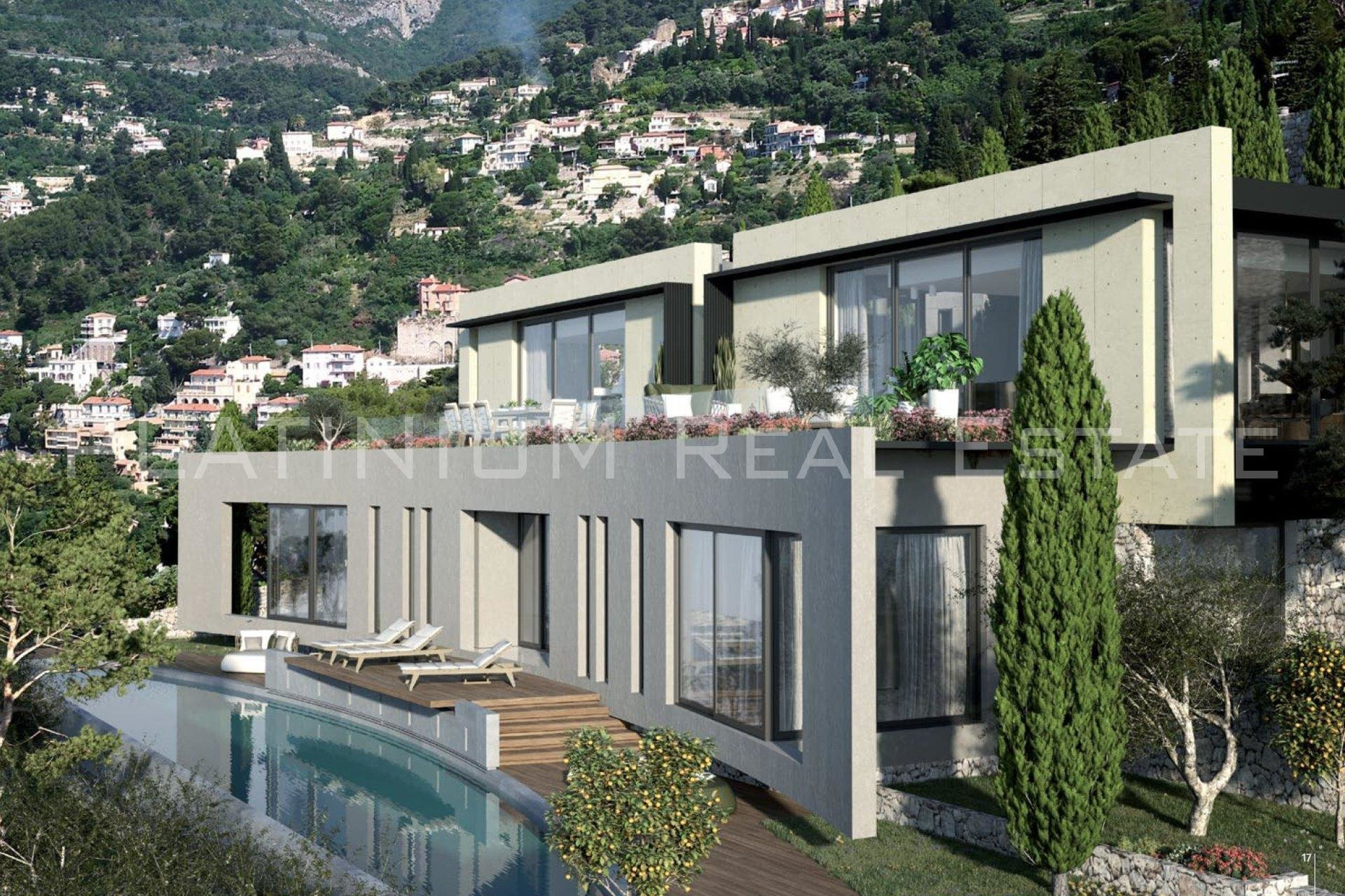 ROQUEBRUNE-CAP-MARTIN | Villa 420 m² habitable + 300 m² garage - panoramic sea view