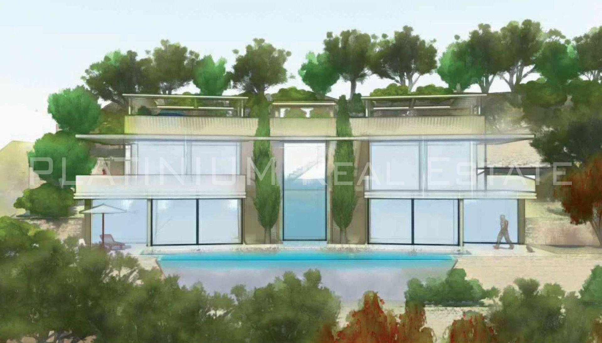 ROQUEBRUNE-CAP-MARTIN Villa 251 m2 habitable + 80 m2 garage - Panoramic sea view