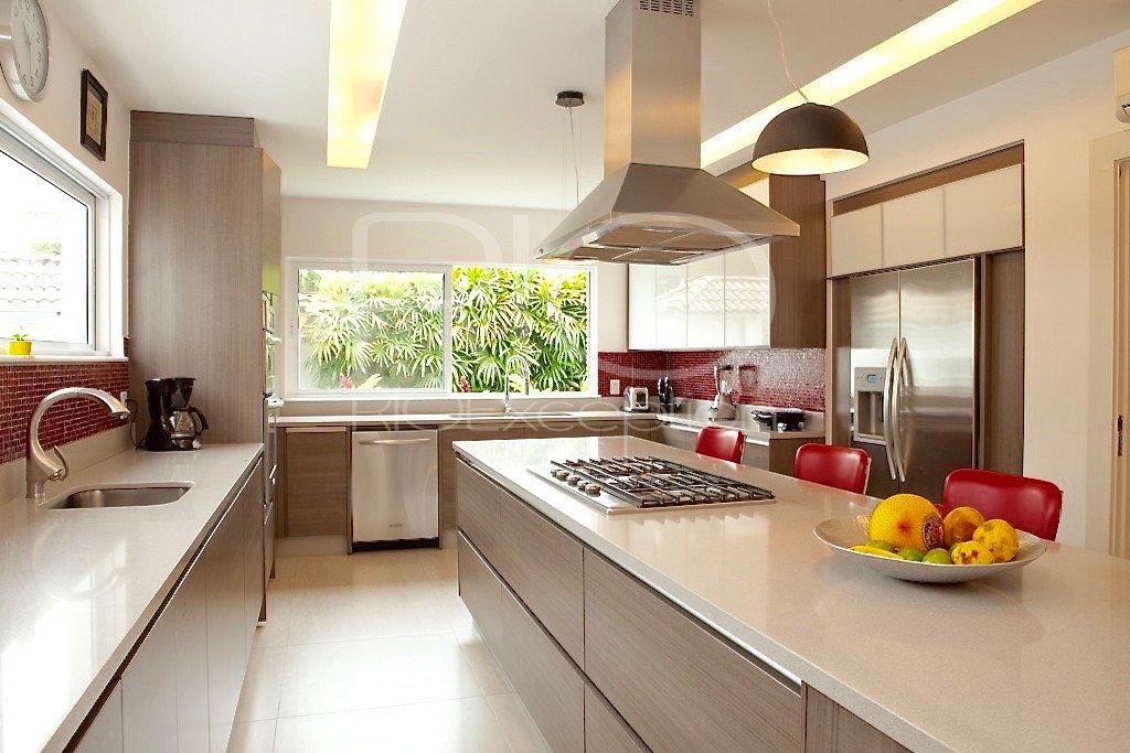 Aço inox, ilha de cozinha