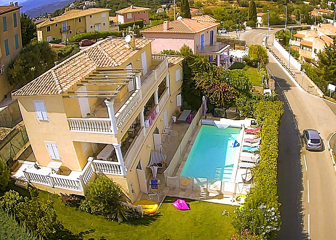 Nice Saint Antoine villa 7 pièces vue aérienne