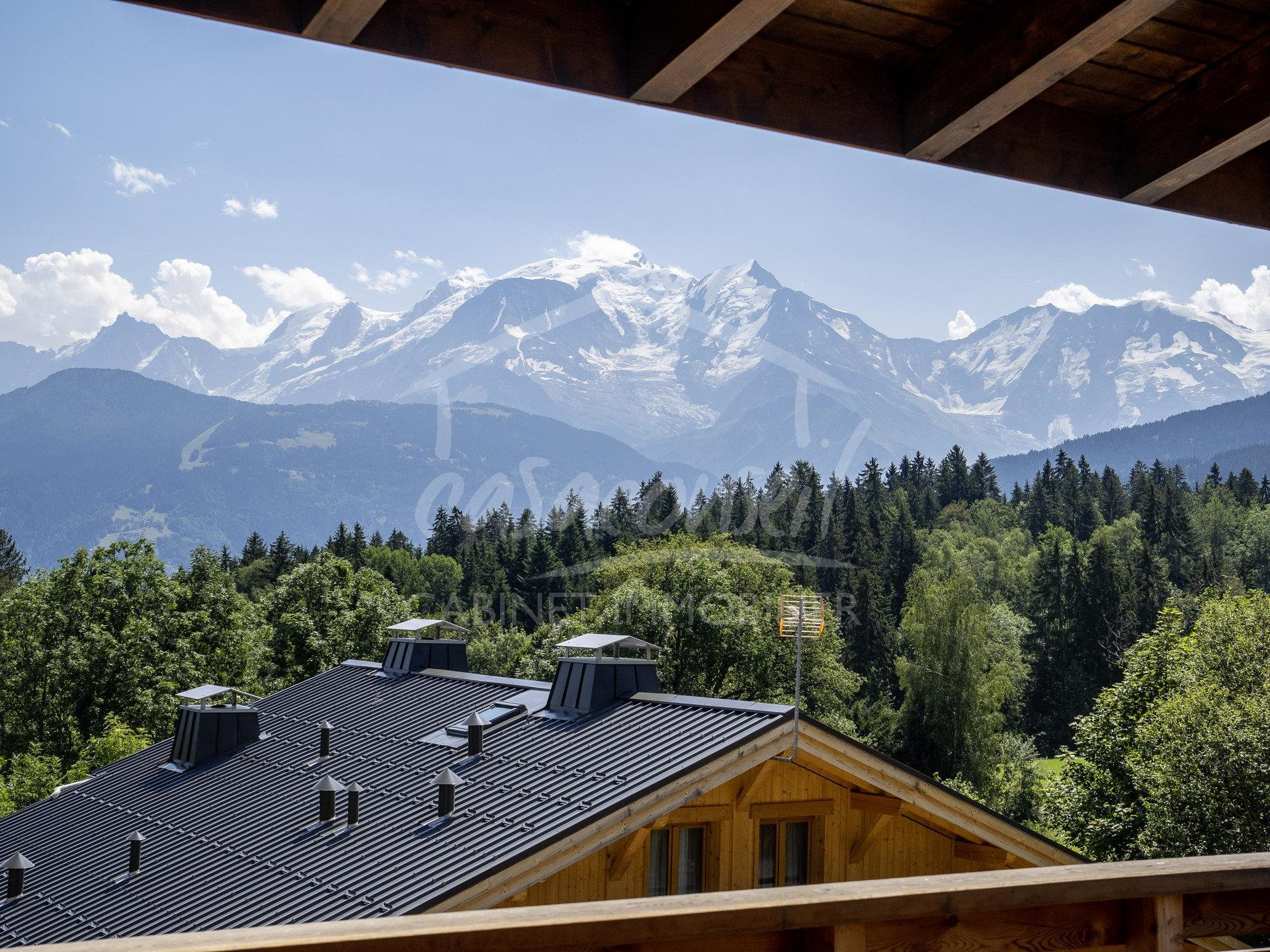 Combloux - Large  Appartement  face au Mont Blanc