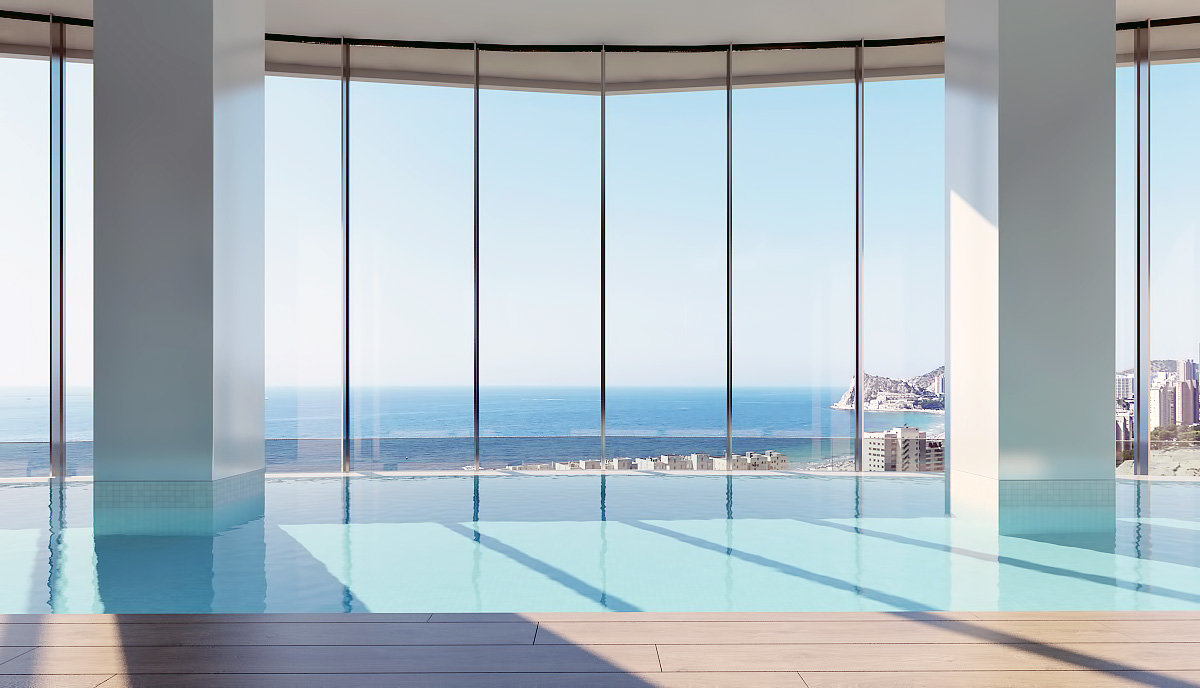 Stunning sea views apartments only a few meters from the beach