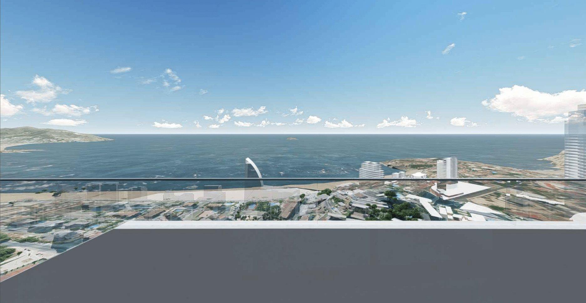 Prachtig uitzicht op zee appartementen op slechts een paar meter van het strand