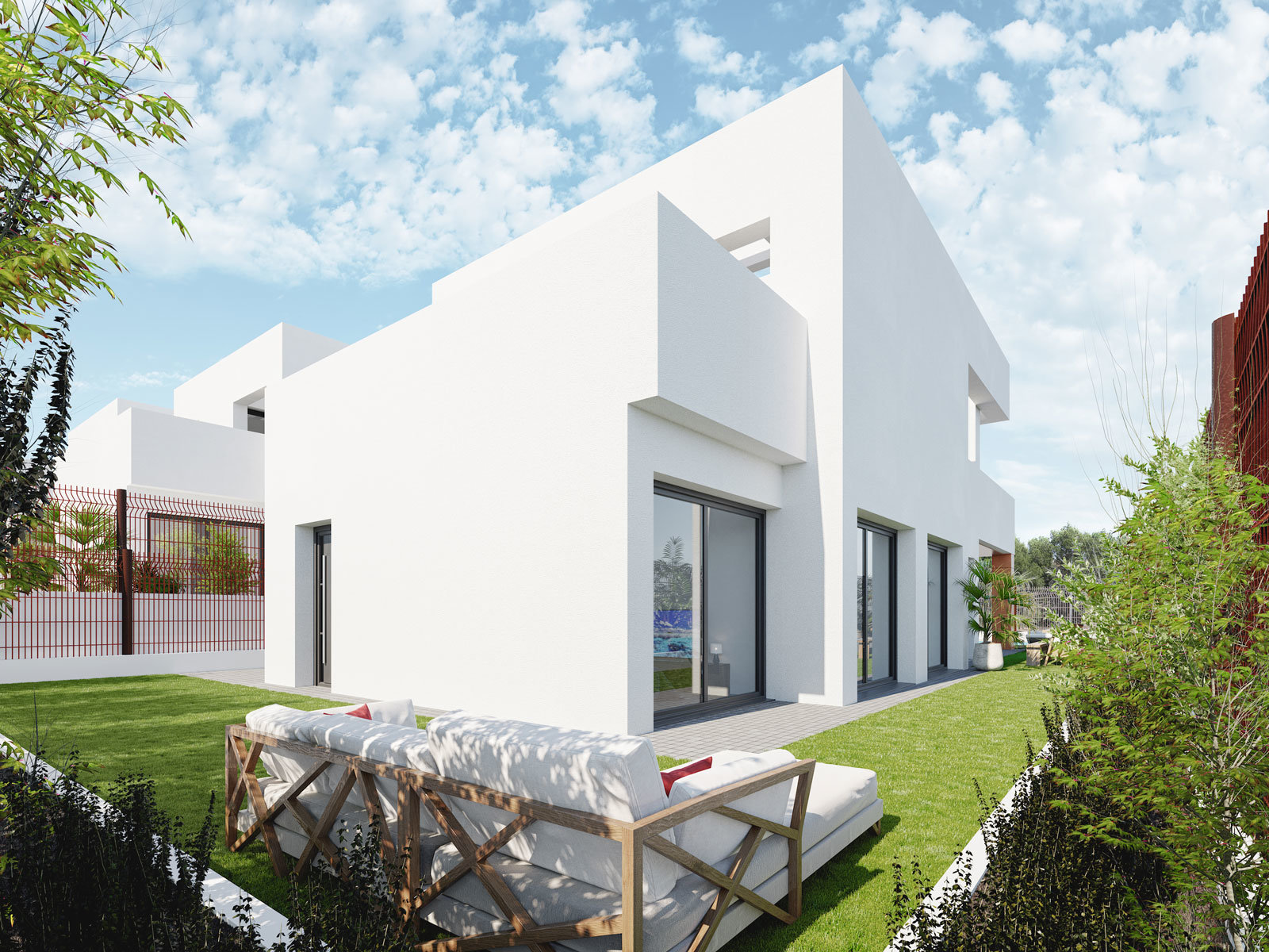 Independent 3 bedroom villas close to Golf Bahia