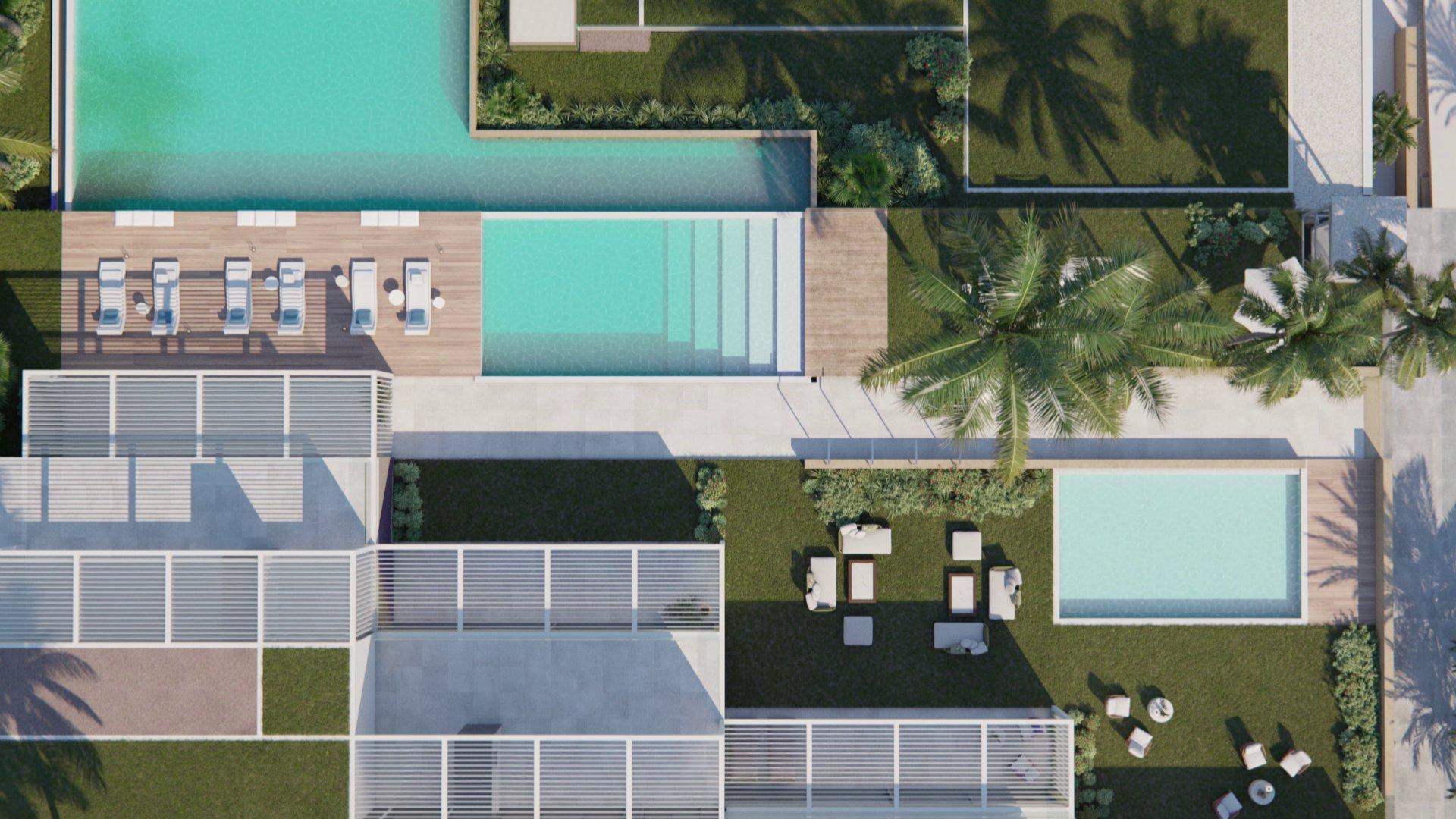 Penthouses de 3 chambres avec vue sur la mer