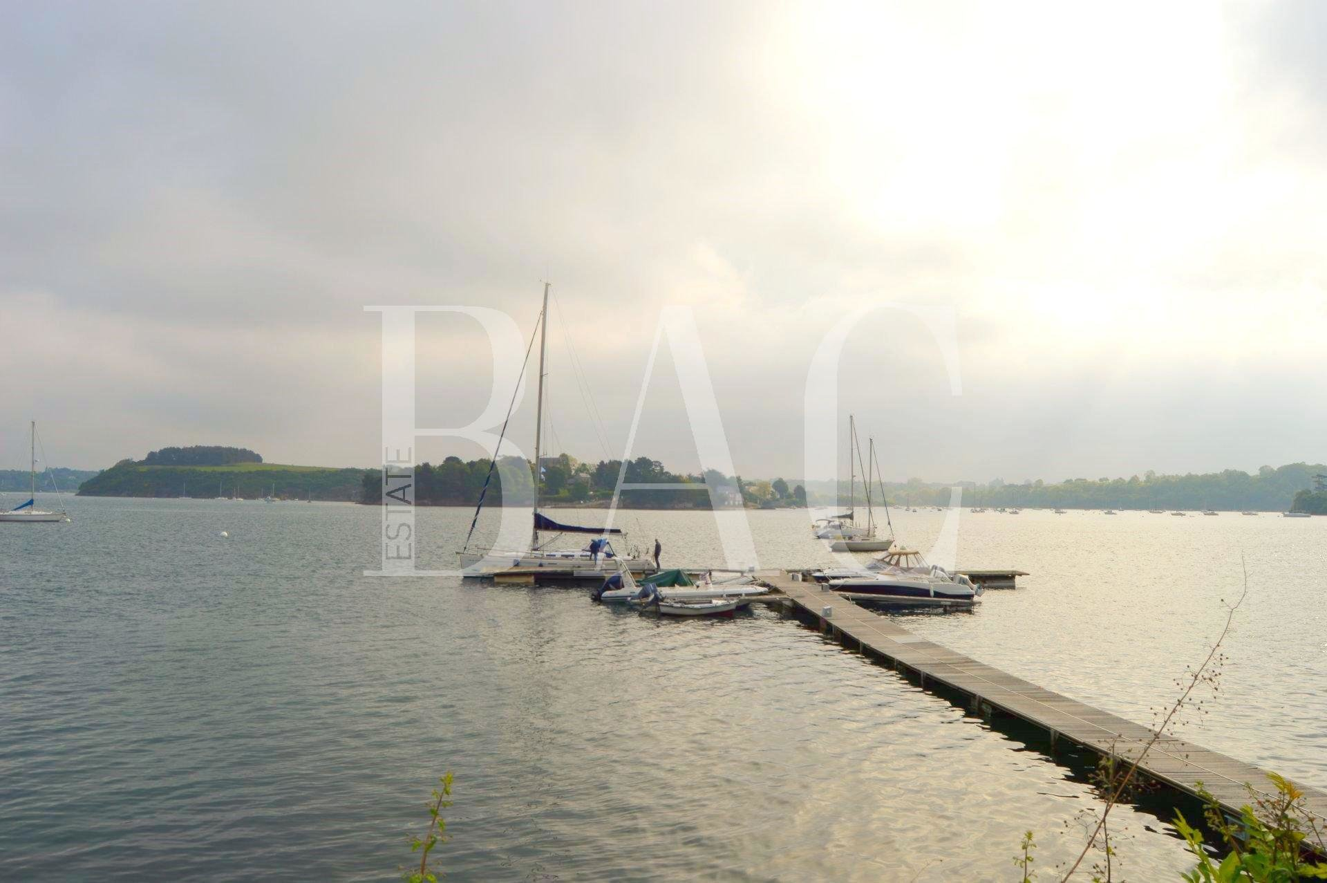 Near DINARD, Magnificent property feet in the water with private dock