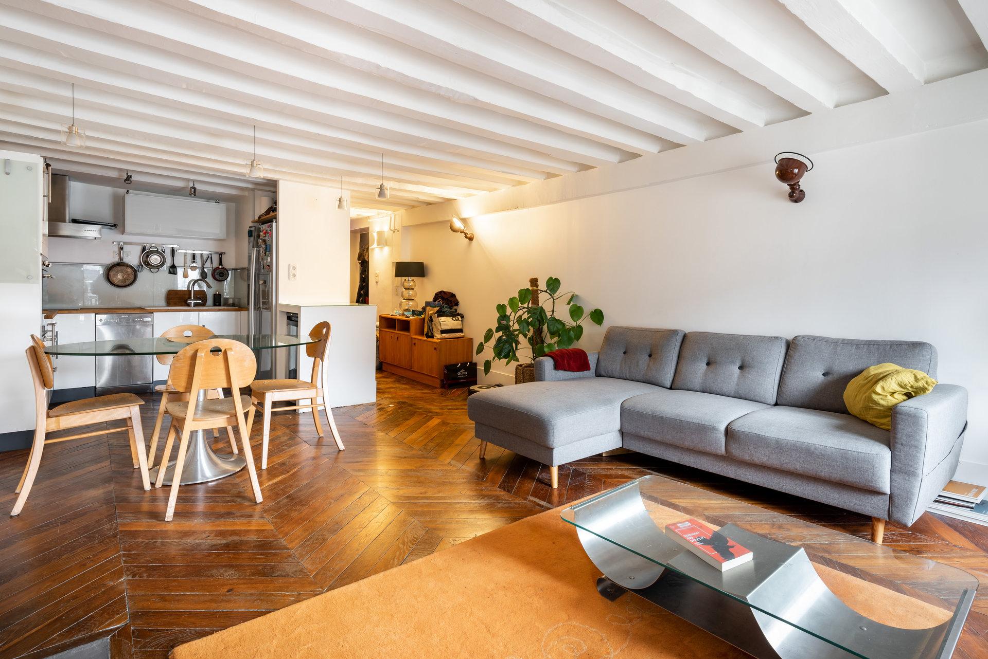 Lyon 2 - Rue de Brest T2 bis cave et grenier