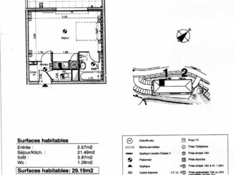 STUDIO avec Terrasse et Garage en sous-sol
