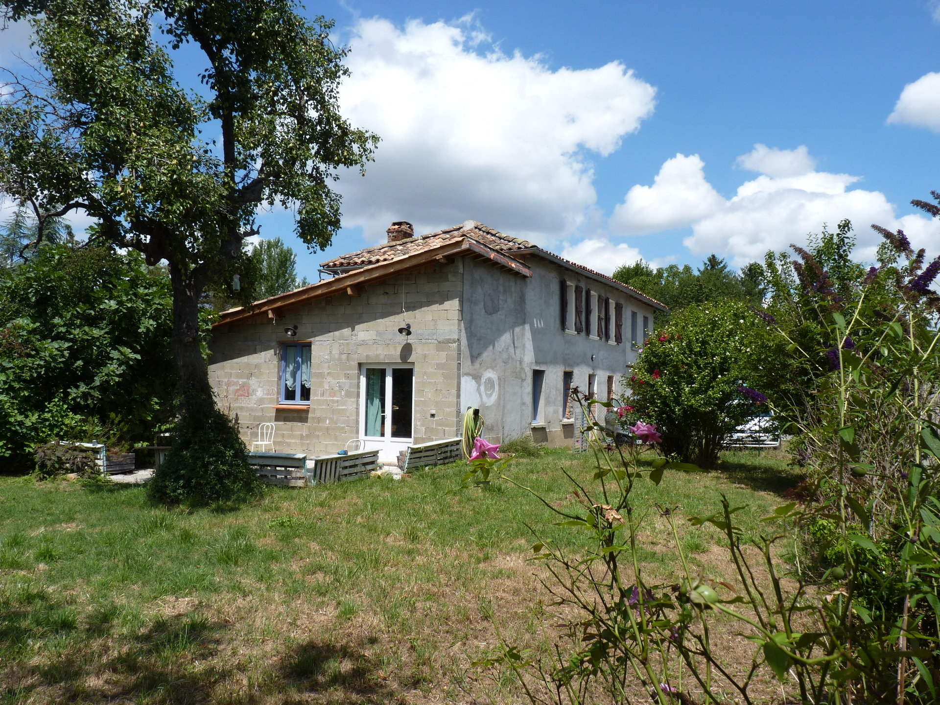 L'Isle en Dodon, charming renovated house 130m²  T4 / 5, with garden